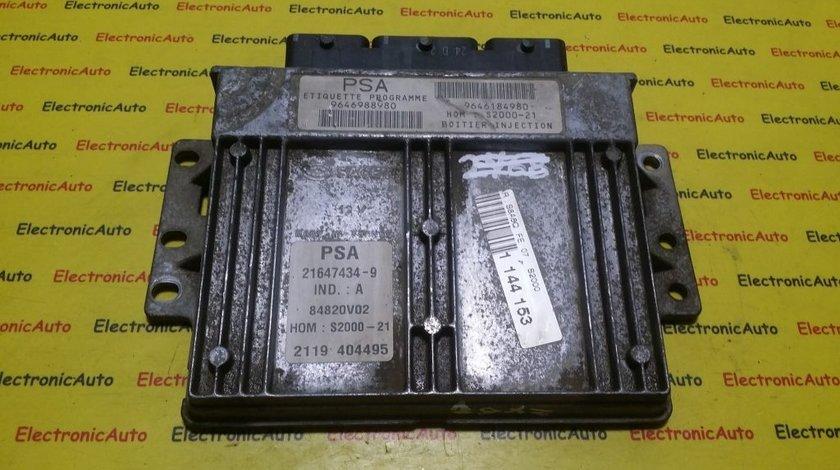 ECU Calculator motor Peugeot 106 Saxo 9646988980, 9646184980
