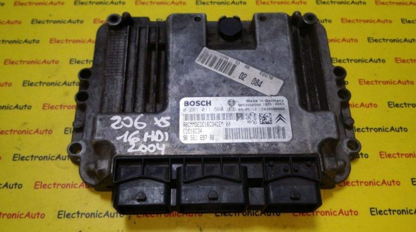 ECU Calculator motor Peugeot 206 1.6HDI 0281011560, 9656169780