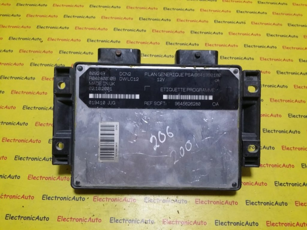 ECU Calculator motor Peugeot 206 1.9D 9641390180, R04080030B
