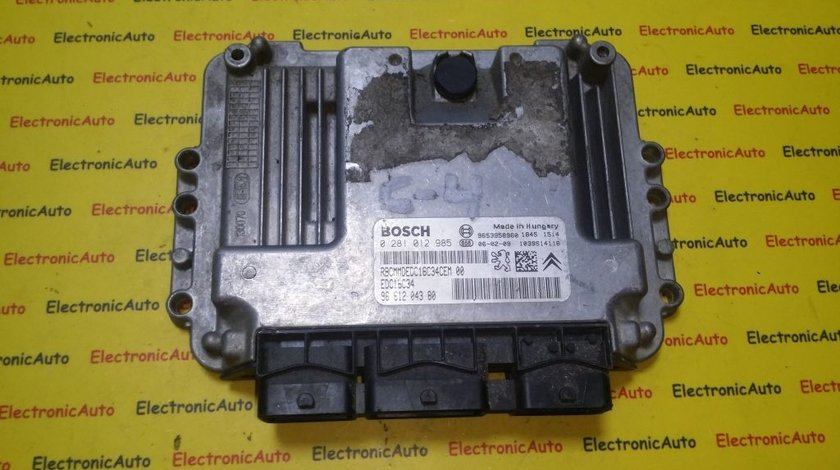 ECU Calculator motor Peugeot 207 1.6HDI 0281012985, 9661204380