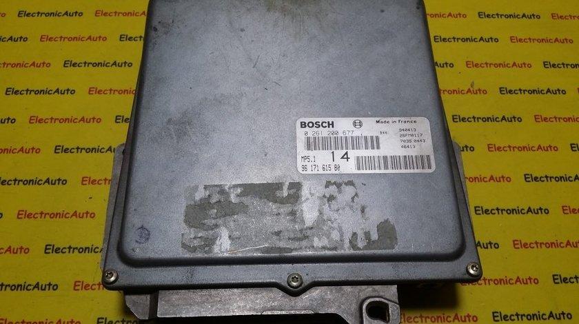 ECU Calculator motor Peugeot 306 1.6 0261200677, 9617161580