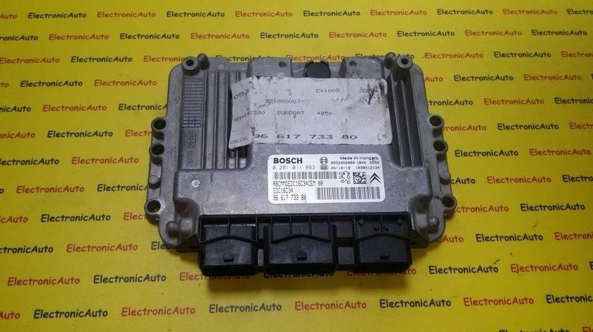 ECU Calculator motor Peugeot 307 1.6HDI 0281011863, 9661773380
