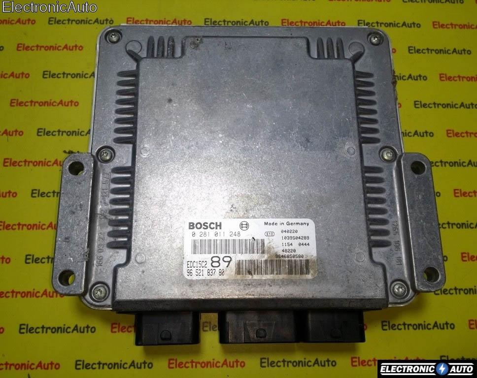 ECU Calculator motor Peugeot 307 2.0HDI 0281011248, 9652183780