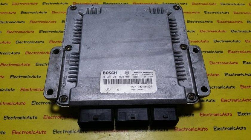 ECU Calculator motor Renault Espace 2.2DCI 0281001999, HOM7700104407