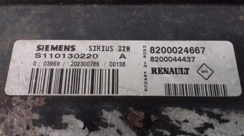 ECU Calculator Motor Renault Laguna 1.6, S110130220A, 8200024667, 8200044437
