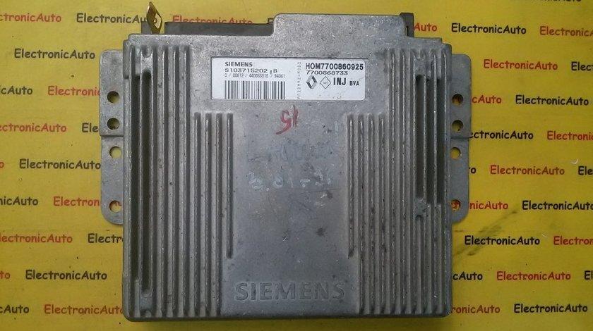 ECU Calculator motor Renault Laguna HOM7700860925, S103715202B