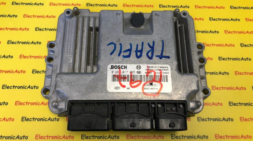 ECU Calculator motor Renault Trafic 2.0DCI 0281017065, 8200935115