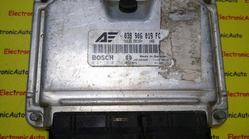 ECU Calculator motor Seat Alhambra 1.9 tdi 0281010751, 038906019FC