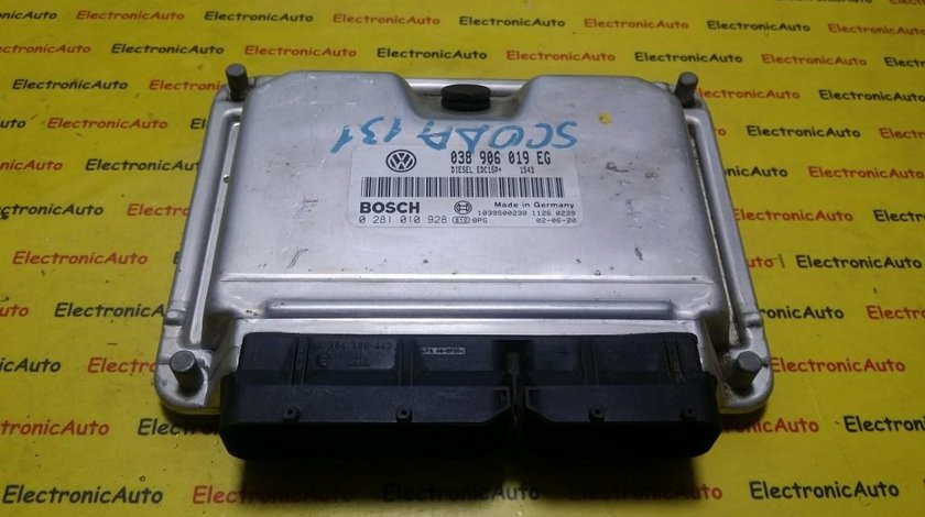 ECU Calculator motor Skoda Superb 1.9TDI 0281010928, 038906019EG