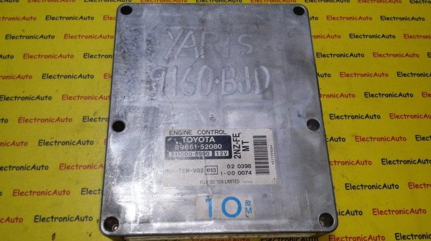 ECU Calculator motor Toyota Yaris 1.3 211000-5990, 89661-52080