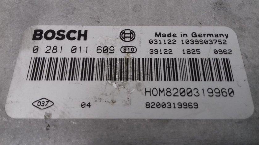 ECU Calculator Motor Volvo V40 1.9 DCI 0281011609, HOM8200319960, 8200319969