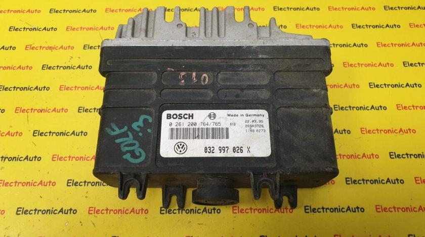 ECU Calculator Motor VW Golf 3 1.6, 032997026X, 0261200764/765