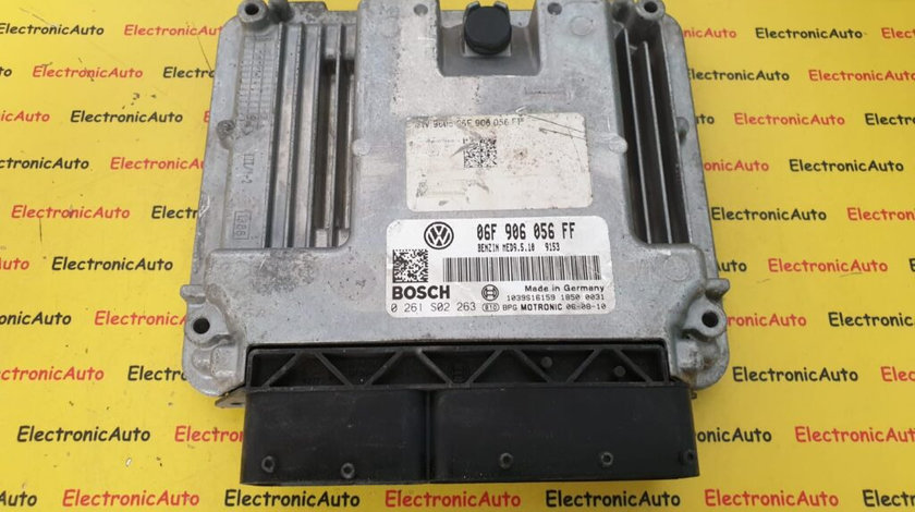 ECU Calculator Motor VW Golf 5/Jetta 2.0 FSi, 0261S02263, 06F 906 056 FF, MED9.5.10 (B5RST)