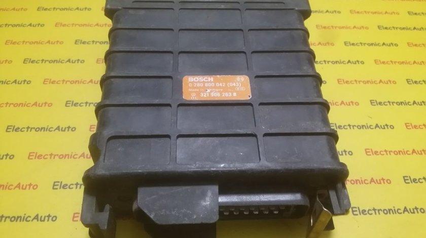 ECU Calculator motor Vw Golf2 Jetta 0280800042043, 321906263B