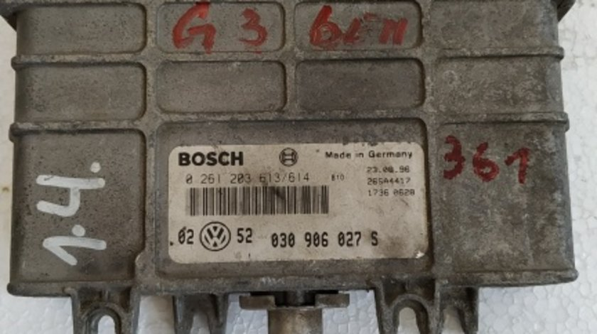 ECU calculator motor VW Golf3 1.4 cod 0261203613/614
