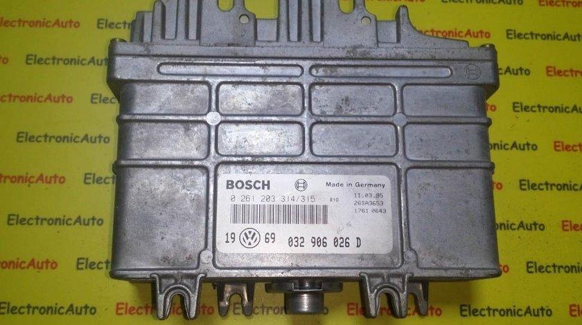 ECU Calculator motor VW Golf3 1.6 032906026D 0261203314/315