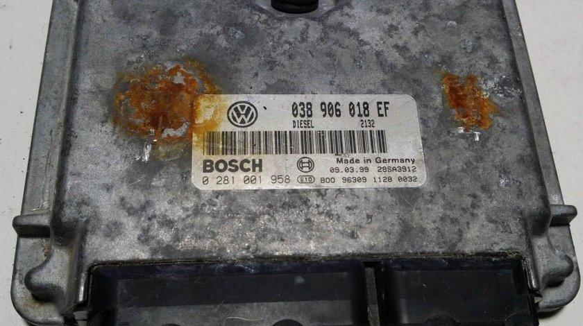 ECU Calculator motor VW Passat 1, 9 TDI, 0281001958 038906018EF