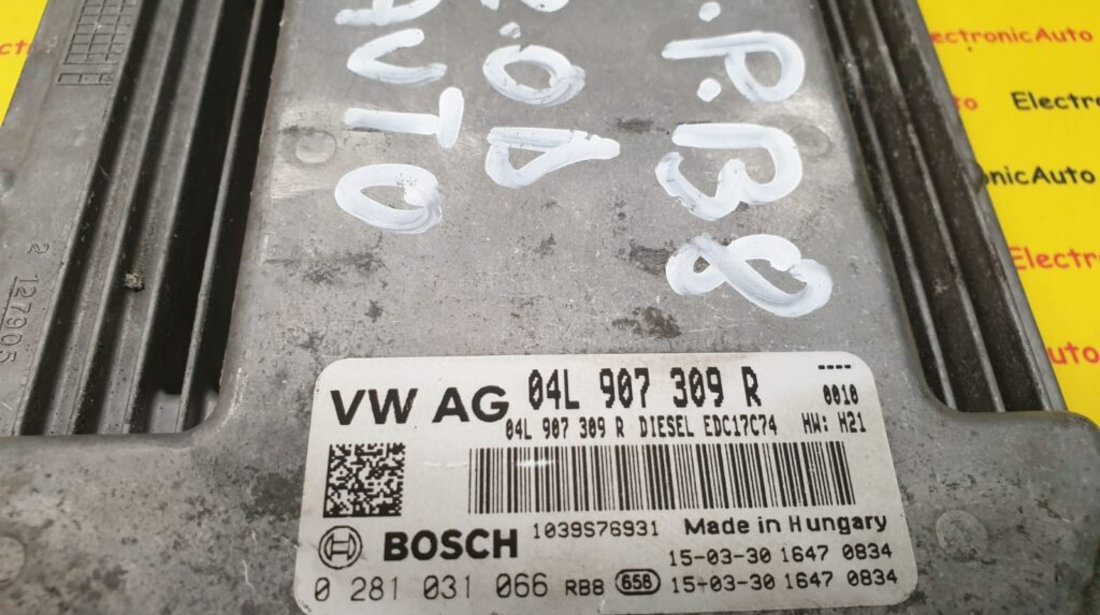 ECU Calculator motor VW Passat 2.0TDi, 0281031066, 04L907309R, EDC17C74