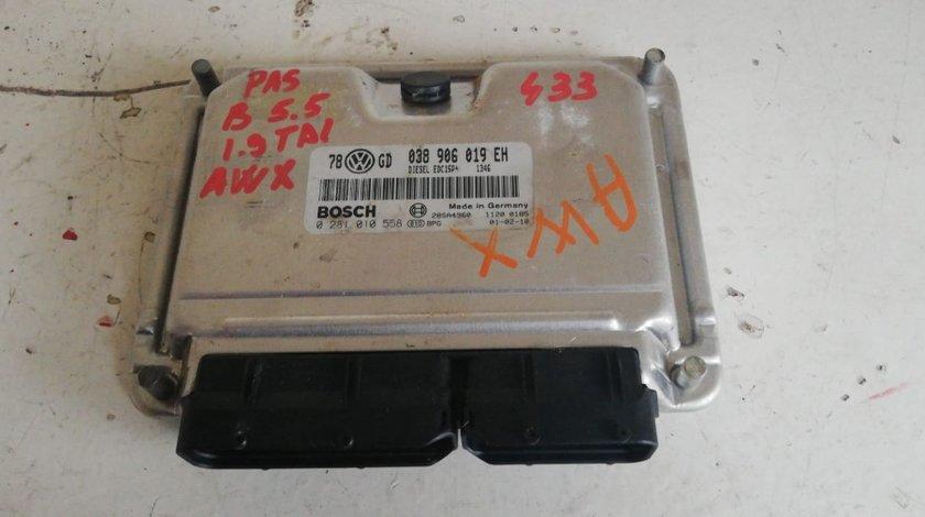 ECU calculator motor VW Passat B 5.5 1.9TDI AWX cod 038906019EH
