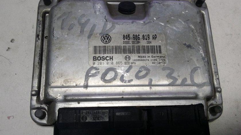 ECU Calculator motor VW Polo 1.4TDI 0281010865 045906019AP
