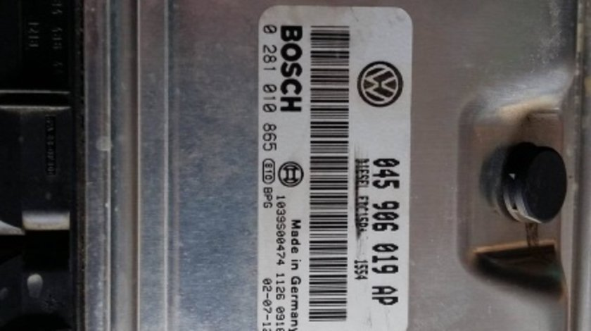 Ecu calculator motor vw polo 9n1.4 tdi 2001-2009 045906019ap 0281010865