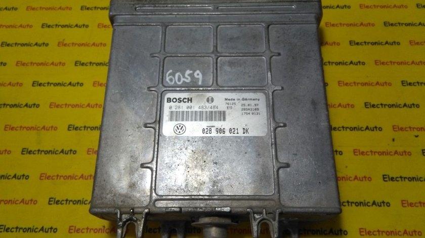 ECU Calculator motor VW, Seat 0281001483/484, 028906021DK