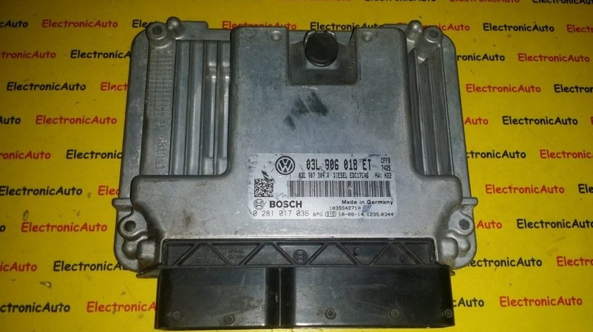ECU Calculator motor Vw Tiguan 2.0TDI 0281017036, 03L906018ET
