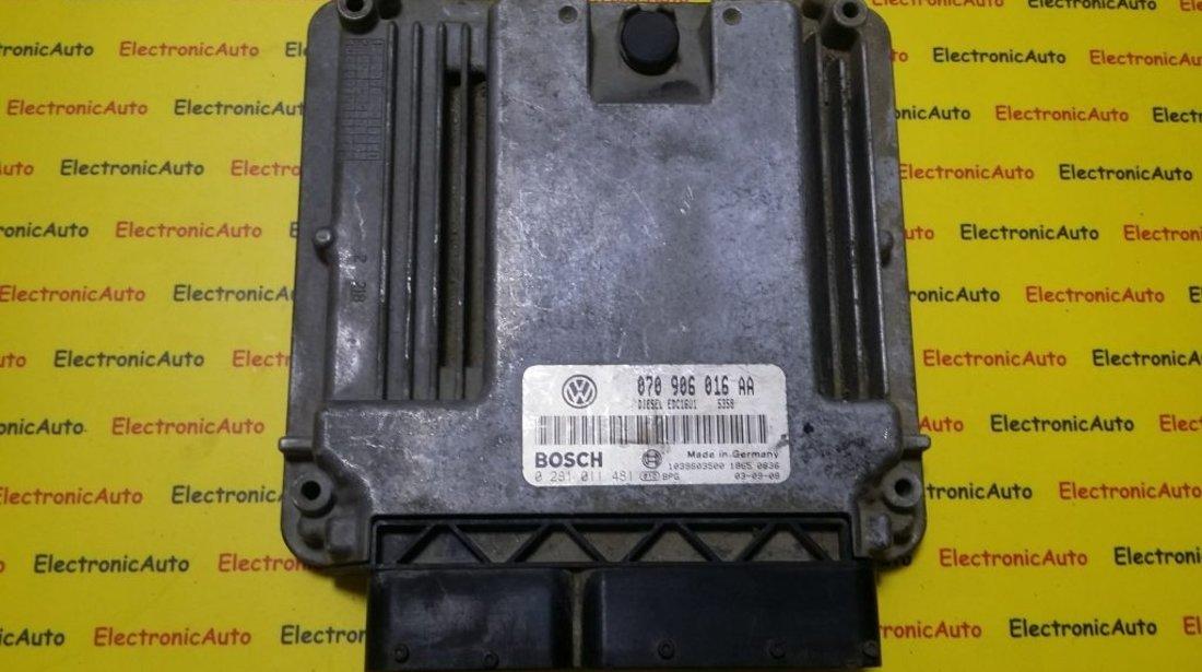 ECU Calculator motor VW Touareg 0281011481, 070906016AA