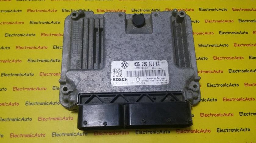 ECU Calculator motor VW TOURAN 1, 9 tdi 0281013196, 03G906021KC