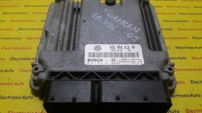 ECU Calculator motor VW Touran 1.9TDI 0281012361