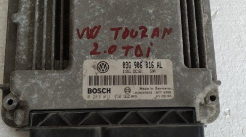 ECU Calculator motor VW Touran 2.0TDI 0281011450 03G906016 AL