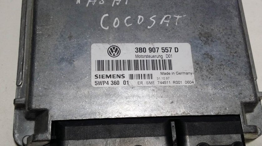 ECU CALCULATOR VW GOLF4 PASSAT B5 1.6 5WP436001 3B0907557D