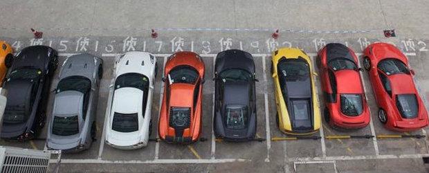 Efectul unei curse ilegale: 12 supercaruri confiscate de politie