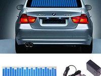 Egalizator LED-uri albastre - Sticker 114x30cm - panou autocolant