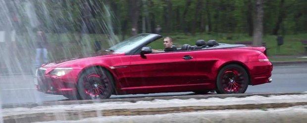 El Diablo: un BMW cu o culoare unica in Romania - rosu cromat