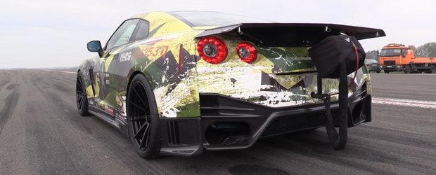 El este cel mai rapid Nissan GT-R din Europa. Are 2.000 de cai si a atins 367 de km/h in 804 de metri