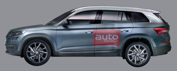 El este Kodiaq. Cum arata noul SUV cu sapte locuri de la Skoda