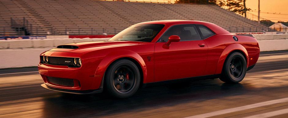 El este noul Challenger SRT Demon, cel mai puternic muscle-car de serie din istorie