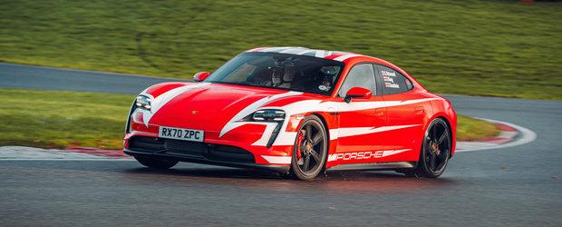 Electricul Taycan a stabilit 13 recorduri de anduranta pe circuitul de la Brands Hatch