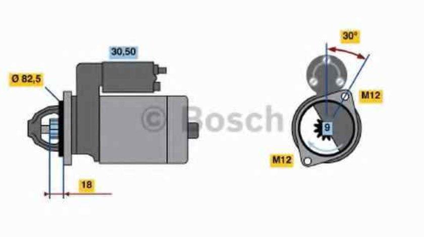 Electromotor AUDI 80 Avant 8C B4 BOSCH 0 986 016 240