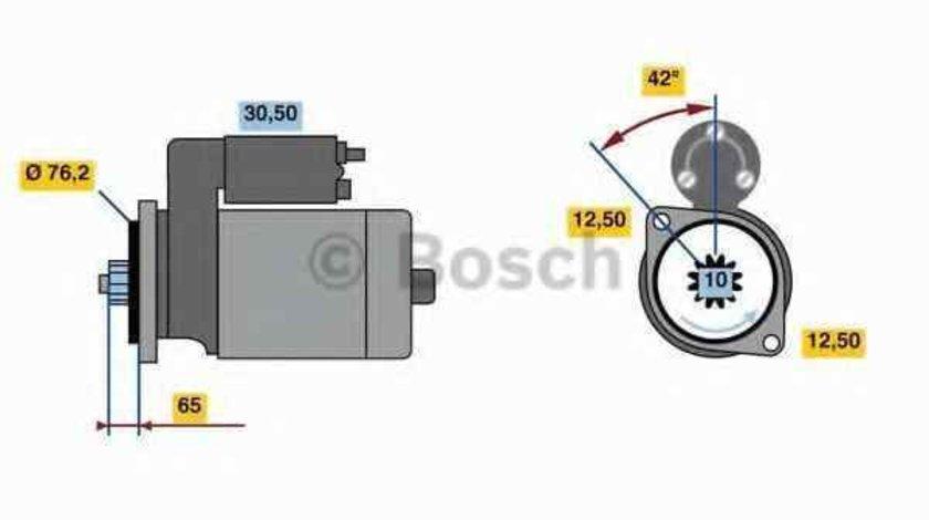 Electromotor AUDI A3 Sportback 8PA BOSCH 0 986 020 260