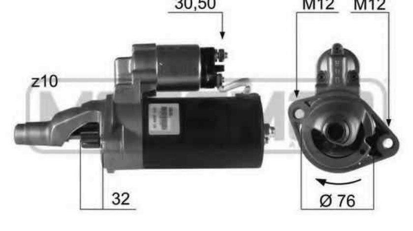 Electromotor AUDI A4 8E2 B6 ERA 220206