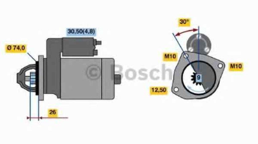 Electromotor AUDI A8 4E BOSCH 0 001 108 237