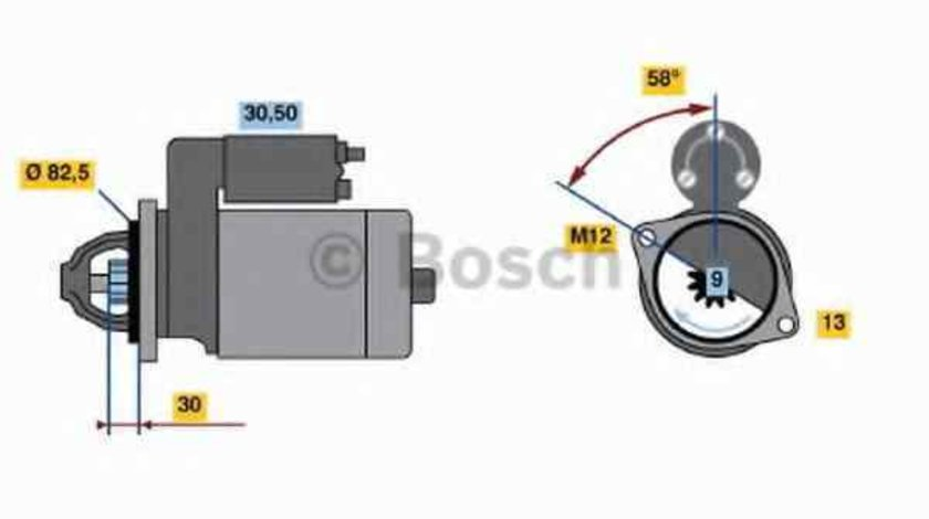 Electromotor AUDI A8 4E BOSCH 0 986 018 340