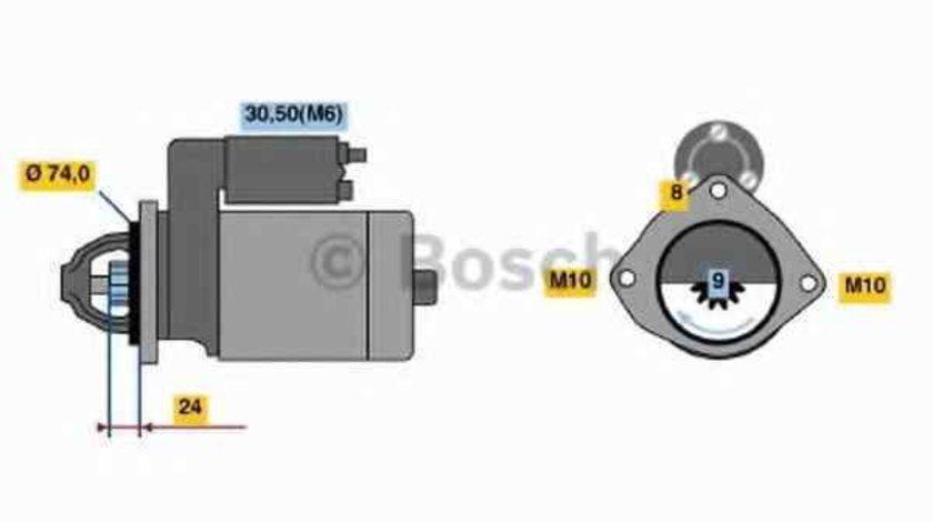Electromotor BMW X3 E83 BOSCH 0 001 115 045