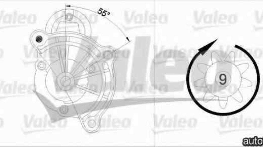 Electromotor CITROËN C4 cupe LA VALEO 455748