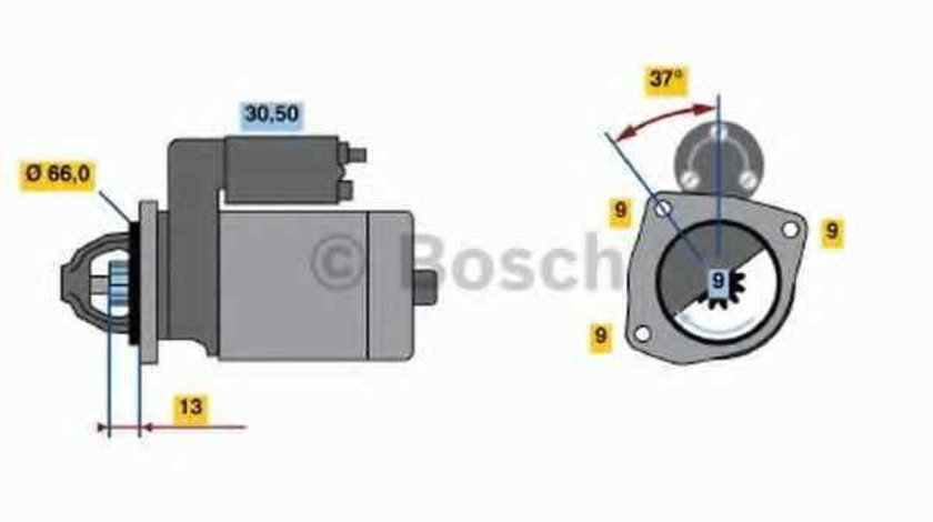 Electromotor FIAT BRAVA 182 BOSCH 0 986 017 770