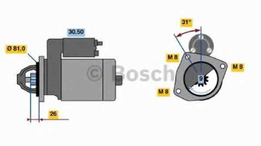 Electromotor FIAT DUCATO caroserie 244 BOSCH 0 986 018 960