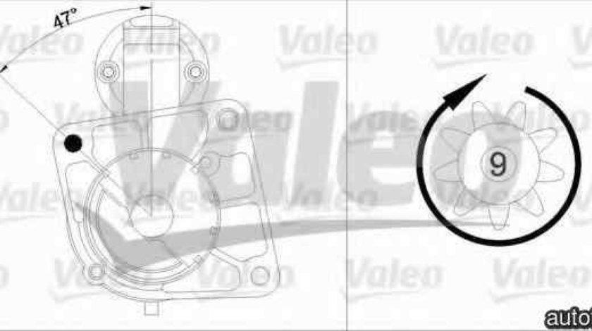Electromotor FIAT PUNTO EVO 199 VALEO 458162