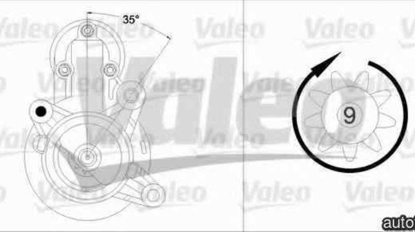 Electromotor FIAT PUNTO Van (176L) VALEO 458204